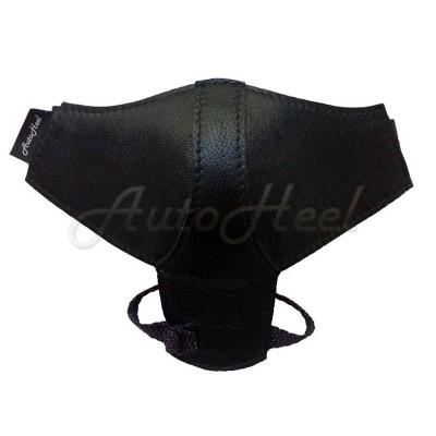 Классик с защитой каблука Черный, липучка