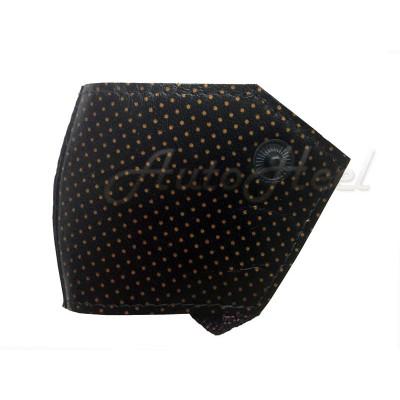 Комфорт (женский) Черный - Золотые точки , застежка кнопка