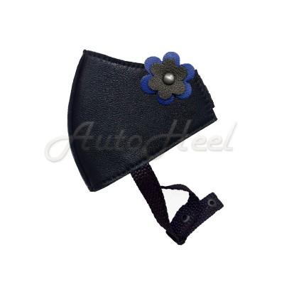 Эксклюзив Цветок синий, застежка липучка